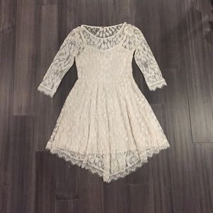 Free People Dresses - Free people white lace leaf dress. Like new!